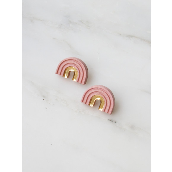 Arch Studs - Pale Pink