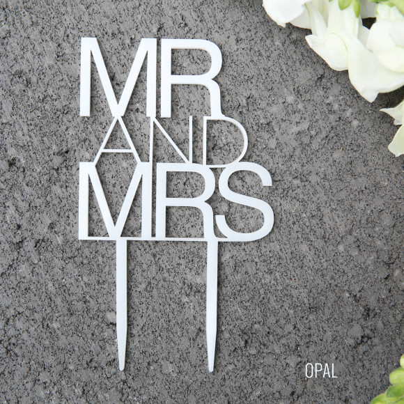 Opal Wedding Cake Topper