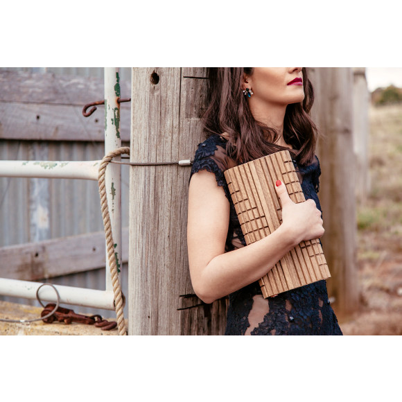 GENESIS SPOTTED GUM DAWN CLUTCH