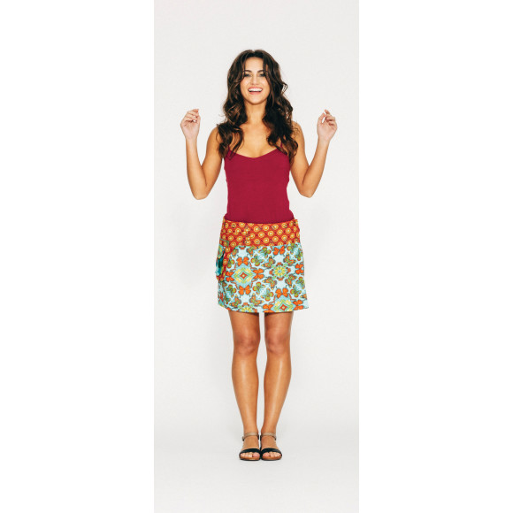 Rosanna Skirt Short - Retro Floral Print