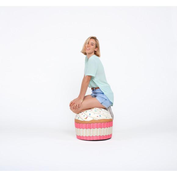 Woouf Bean Bag - Cupcake Pink