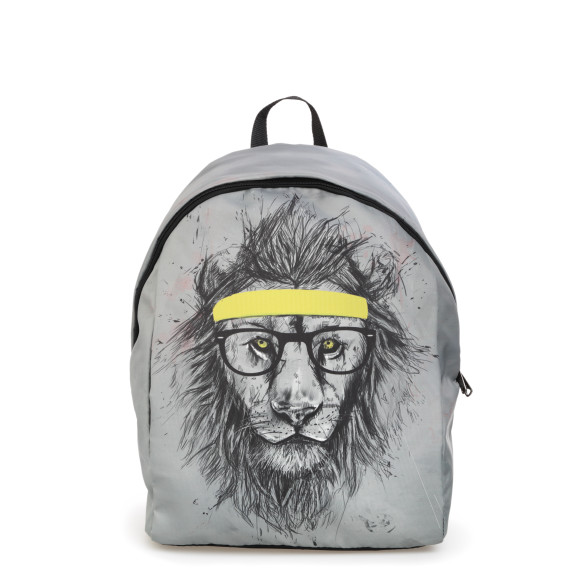 Hipster Lion Backpack Front view