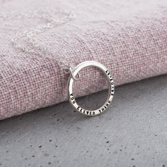 Personalised Circle Necklace: perfect graduation present