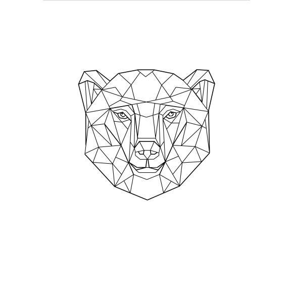 Geo Bear Print