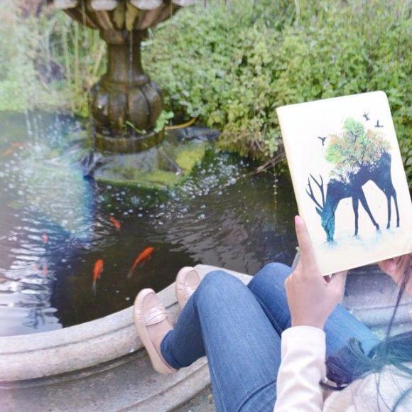 Watering Deer Samsung Tab S2 Folio Case