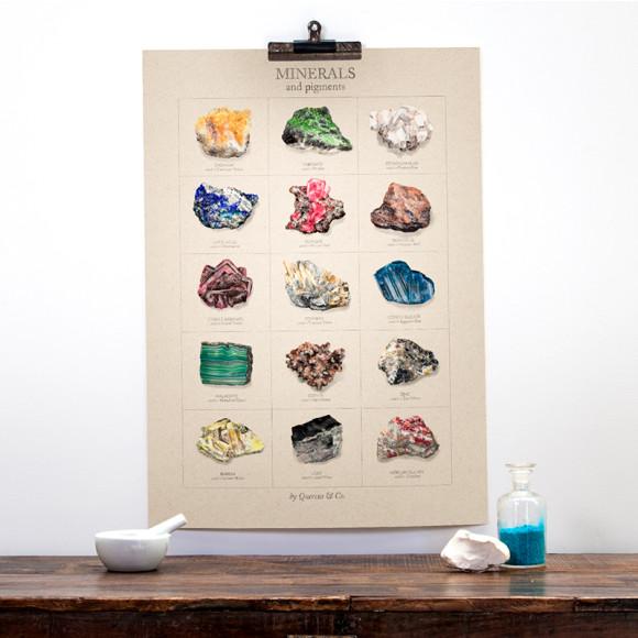 Minerals size 50x70cm