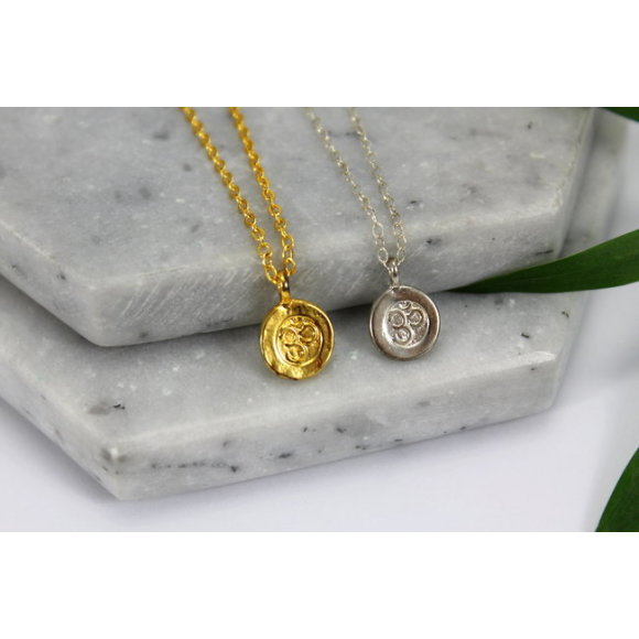 Sterling silver & gold ohm charm