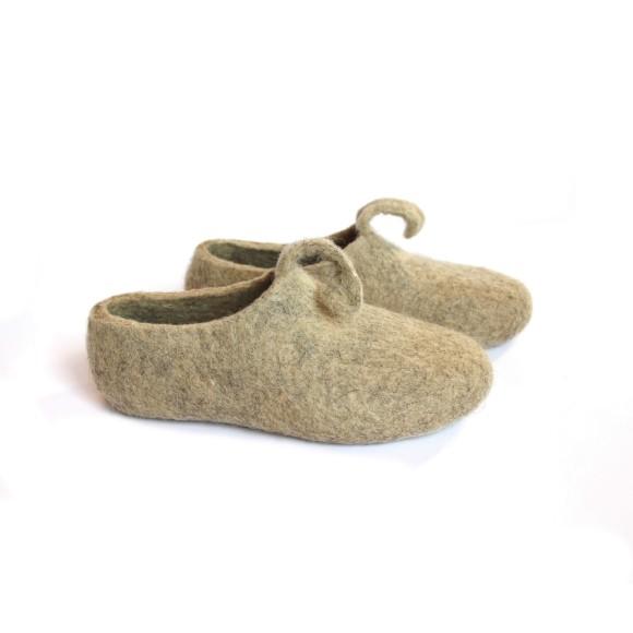 Women's eco friendly wool slippers