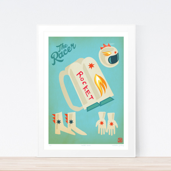 Racer Rocket Art Print (Framed)