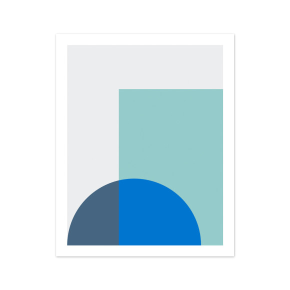 Melange No. 1 Geometric Art Print