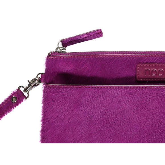 luxe clutch fuchsia close