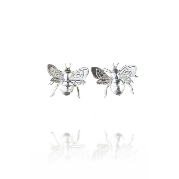silver bee stud front shot