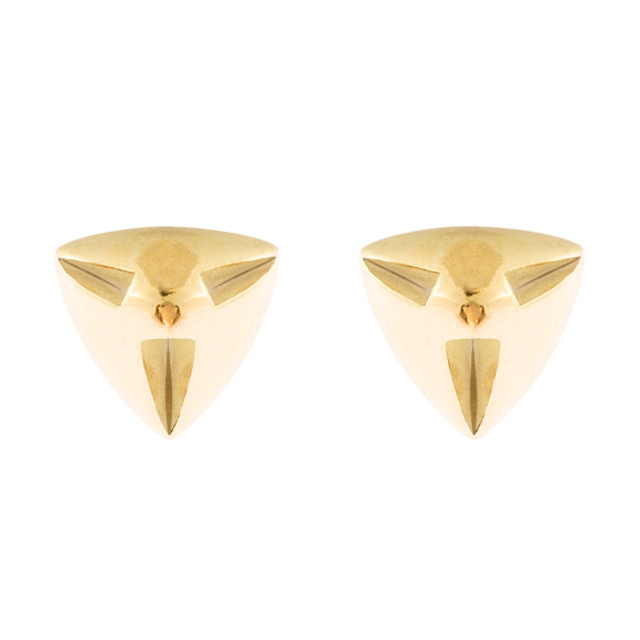 Hissia Amina gold stud earrings