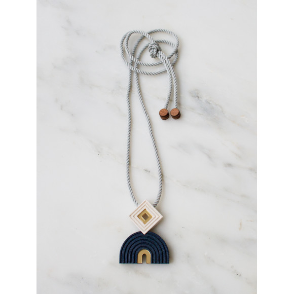 Monument Necklace - Midnight Blue