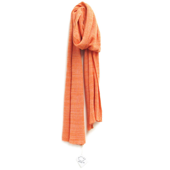 coral cotton scarf