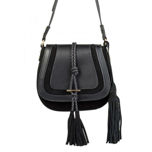 Harriet Mini Saddle Bag - Black