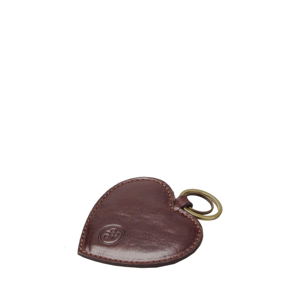 The Mimi Keyring in Dark Brown