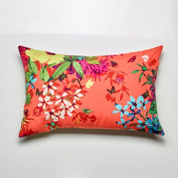 Tropicana cushion in tangerine