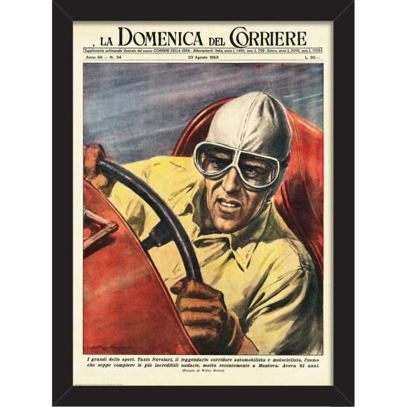 Italian Tazio Nuvolari: Framed