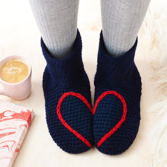 Navy Heart Socks
