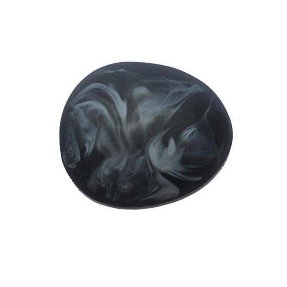 Black with white swirl