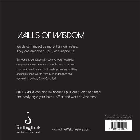 Wall Candy pull out print book (back cover)