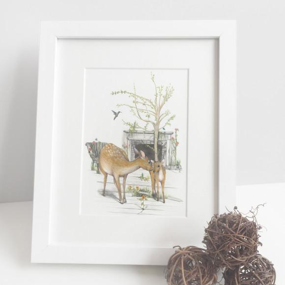 deer print kids room
