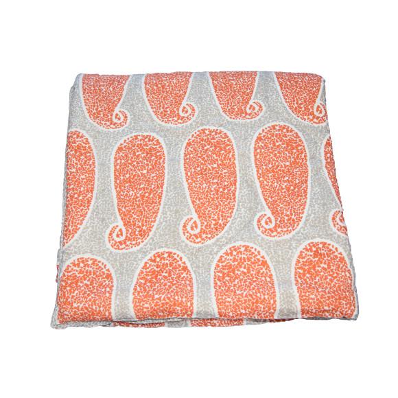 Cotton Orange Paisley Quilt