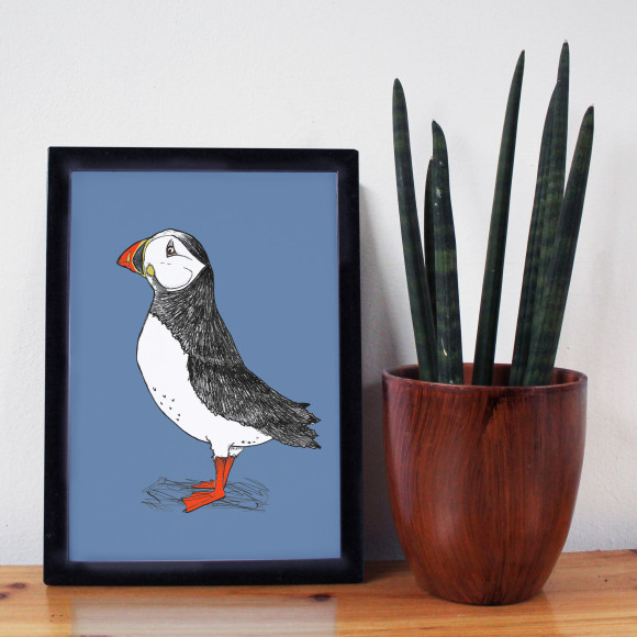 Puffin Billy Print Blue