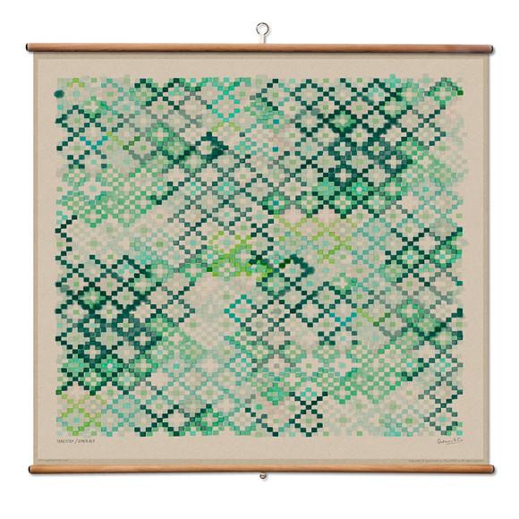 Emerald - 110 x 100cm