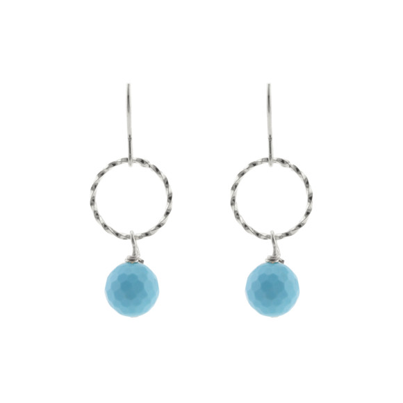 Blue twist earrings