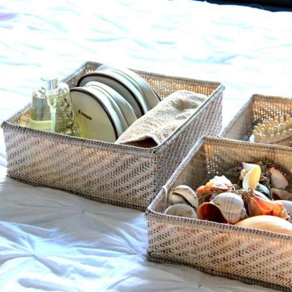 3 sizes of open baskets