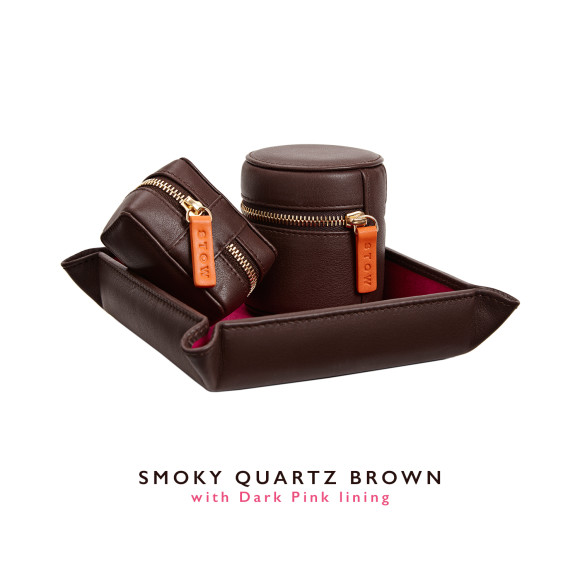 Brown Mens Leather Travel Gift Set