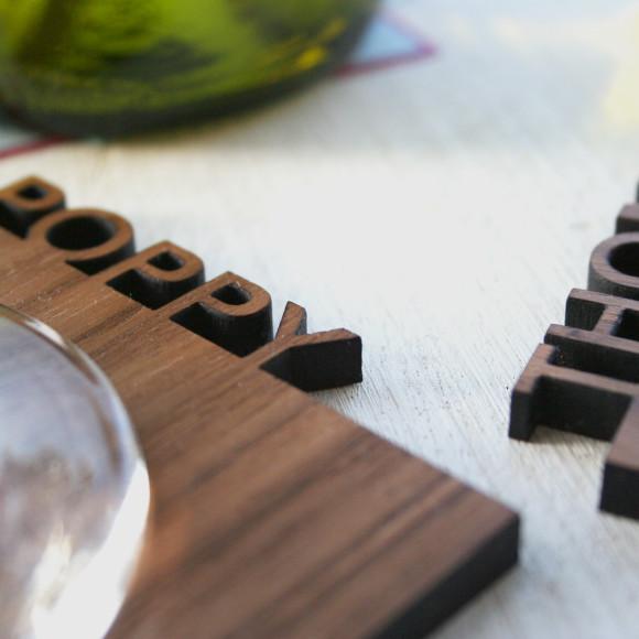 personslised wooden coasters