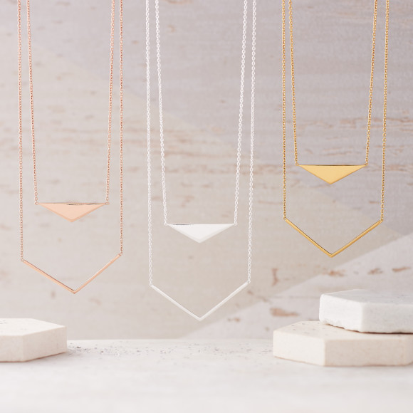 Geometric Double Layer Necklace
