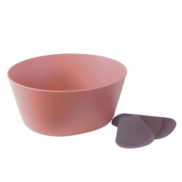 Brick Red Salad Bowl with Servers