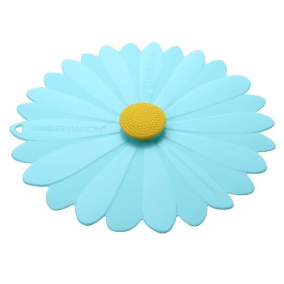 Daisy Aqua Blue Lid