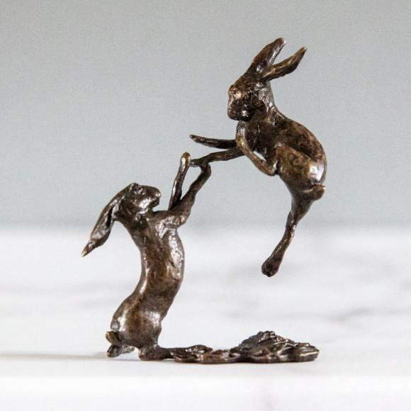 bronze hares detail