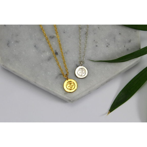 Sterling silver & gold ohm