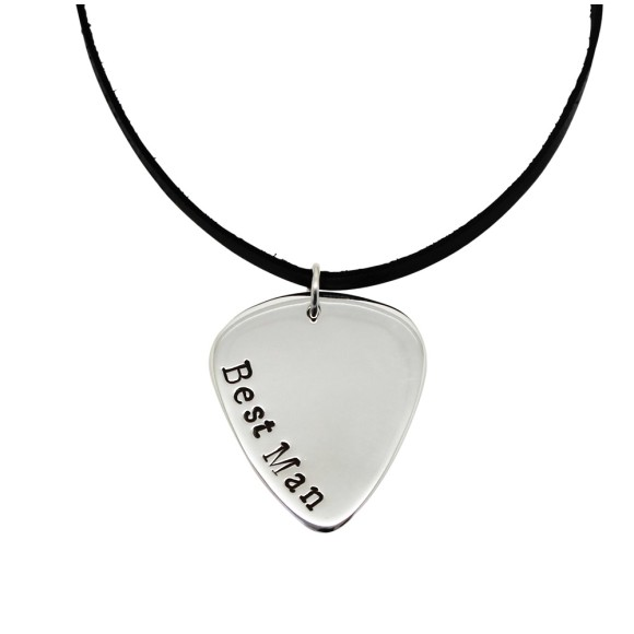 Best Man Guitar Pick Pendant