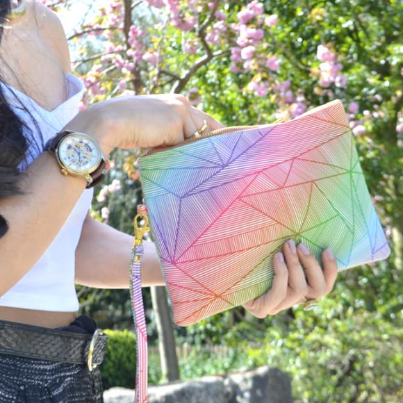Billy Rays Neon Clutch Bag