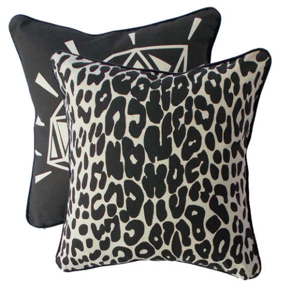 Flipside is a modern leopard to compliment the faux bling