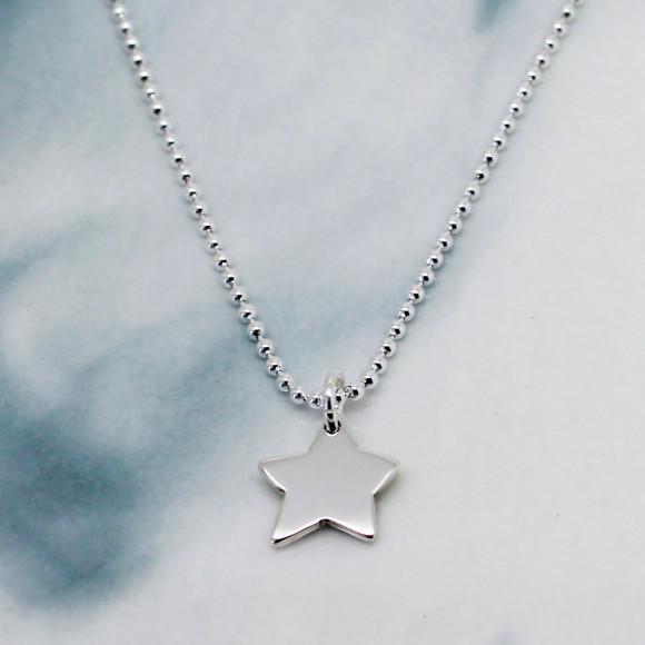 little star on ball chain