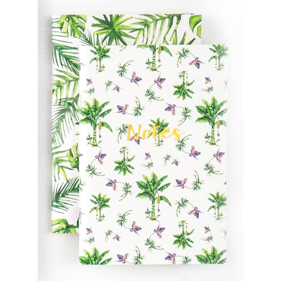 A6 Tropical twin set notebook set.