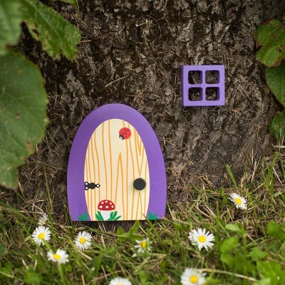 Violet fairy door