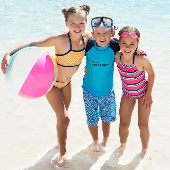 Will wears Aquamarine with Iluka Aquamarine Boardshorts