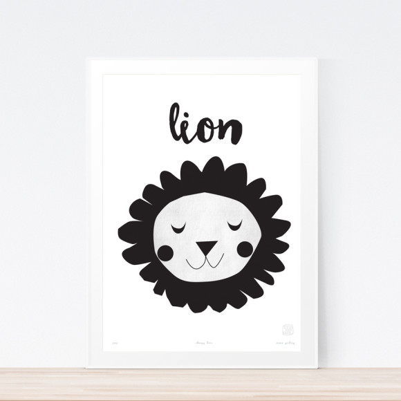 Lion Art Print Framed