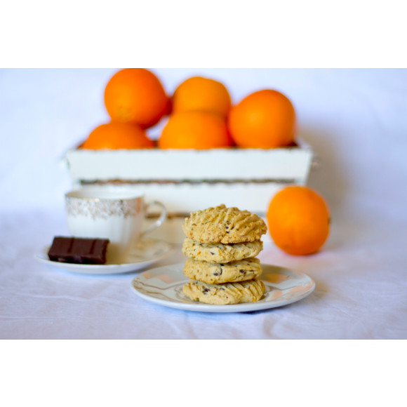 Dark choc orange cookie