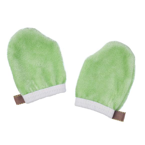 Moss green Baby Scratch Mittens