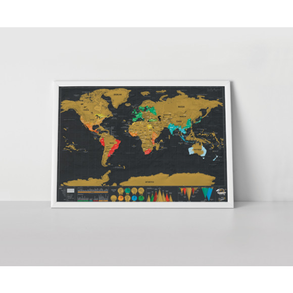 Deluxe scratch travel world map